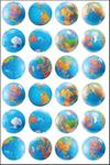 Globe - Hygloss Themed Stickers 3/Pkg
