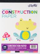 "48 Sheets, 8 Assorted Colors - U-Create Construction Paper Pad 9""x12"""