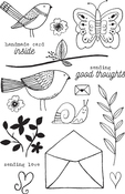 "Aviary Love - Flora & Fauna Clear Stamps 4""X6"""