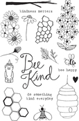 "Bee Kind - Flora & Fauna Clear Stamps 4""X6"""
