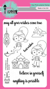 """Genie Girl - Pink & Main Clear Stamps 4""""X6"""""""