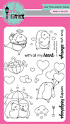 """Hedgehugs - Pink & Main Clear Stamps 4""""X6"""""""