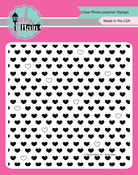 "Polka Hearts - Pink & Main Clear Stamps 6""X6"""