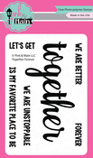 """Together Forever - Pink & Main Clear Stamps 3""""X4"""""""