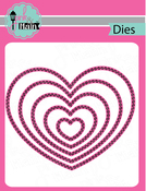 Double Stitched Heart - Pink And Main Dies
