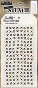 "Stitched - Tim Holtz Layered Stencil 4.125""X8.5"""