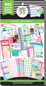 Budget Fill-In, 682/Pkg - Happy Planner Sticker Value Pack