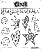 """Star Struck - Dyan Reaveley's Dylusions Cling Stamp Collections 8.5""""X7"""""""