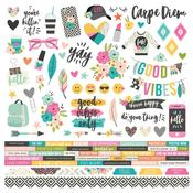 Good Vibes Combo Sticker Sheet - Simple Stories