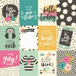 Journaling Card Elements Paper - Good Vibes - Simple Stories - PRE ORDER