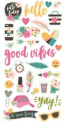 Good Vibes Chipboard Stickers - Simple Stories