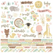 Oh, Baby! Combo Sticker Sheet - Simple Stories
