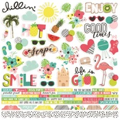 Hello Summer Combo Sticker Sheet - Simple Stories