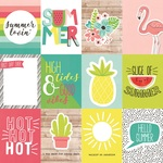 Journaling Card Elements Paper - Hello Summer - Simple Stories - PRE ORDER