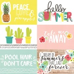 Horizontal Elements Paper - Hello Summer - Simple Stories - PRE ORDER