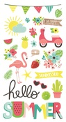 Chipboard Stickers - Hello Summer - Simple Stories