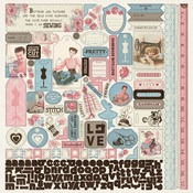Stitches Details Stickers - Authentique