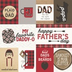 Elements Paper - Plaid Dad - Simple Stories - PRE ORDER