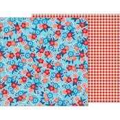 Patriotic Blossoms Paper - Land That I Love - Pebbles
