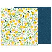 Backyard Blooms Paper - Patio Party - Pebbles - PRE ORDER