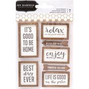 Patio Party Printed Wood Stickers - Pebbles