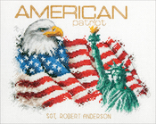 """American Patriot (14 Count) - Dimensions Counted Cross Stitch Kit 10""""X8"""""""