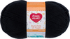 Licorice - Red Heart Bunches Of Hugs Yarn A large value size ball, Oeko-Tex certified yarn in a medium weight. Great for baby, toddler and kids projects. Weight category: 4. Content: 100% acrylic. Putup: 14oz/397g, 948yd/868m (solid), 10oz/284g, 678yd/620m (striped). Gauge: 12sx14r = 4in/10cm on size US8/5mm knitting needles. Suggested crochet hook size: I-9/5.5mm. Dyelotted: we try but are not always able to match dyelots. Care: machine wash, machine dry, do not iron, do not bleach, dry clean using P solvents. Comes in a variety of colors. Each sold separately. Imported.