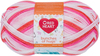 Princess - Red Heart Bunches Of Hugs Yarn A large value size ball, Oeko-Tex certified yarn in a medium weight. Great for baby, toddler and kids projects. Weight category: 4. Content: 100% acrylic. Putup: 14oz/397g, 948yd/868m (solid), 10oz/284g, 678yd/620m (striped). Gauge: 12sx14r = 4in/10cm on size US8/5mm knitting needles. Suggested crochet hook size: I-9/5.5mm. Dyelotted: we try but are not always able to match dyelots. Care: machine wash, machine dry, do not iron, do not bleach, dry clean using P solvents. Comes in a variety of colors. Each sold separately. Imported.