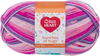 Fairy Tale - Red Heart Bunches Of Hugs Yarn A large value size ball, Oeko-Tex certified yarn in a medium weight. Great for baby, toddler and kids projects. Weight category: 4. Content: 100% acrylic. Putup: 14oz/397g, 948yd/868m (solid), 10oz/284g, 678yd/620m (striped). Gauge: 12sx14r = 4in/10cm on size US8/5mm knitting needles. Suggested crochet hook size: I-9/5.5mm. Dyelotted: we try but are not always able to match dyelots. Care: machine wash, machine dry, do not iron, do not bleach, dry clean using P solvents. Comes in a variety of colors. Each sold separately. Imported.