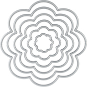 Flower - Gemini Threaders Metal Fabric Nesting Dies 6/Pkg