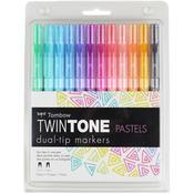 Pastels - Twintone Marker Set 12/Pkg