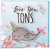 Love You Tons - Sizzix Framelits Die & Stamp Set By Jen Long
