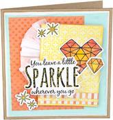 Sparkle - Sizzix Framelits Die & Stamp Set By Jen Long