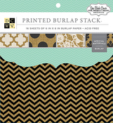 """Printed Burlap - DCWV Single-Sided Specialty Stack 6""""X6"""" 16/Pkg"""