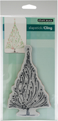 """Starry Tree - Penny Black Cling Stamps 5""""X7"""""""