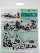 "Snow Covered - Penny Black Cling Stamps 5""X7"""