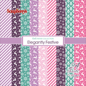 "12 Designs/2 Each - ScrapBerry's Elegantly Festive Paper Pack 6""X6"" 24/Pkg"