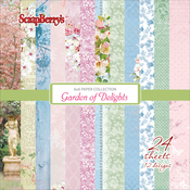"12 Designs/2 Each - ScrapBerry's Garden Of Delights Paper Pack 6""X6"" 24/Pkg"