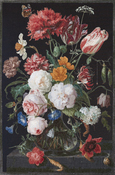 "Still Life W/ Flowers On Linen(36 Count) - Thea Gouverneur Counted Cross Stitch Kit 41.5""X27.5"""