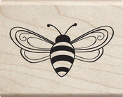 "Bee - Jillibean Soup Mounted Stamp 2""X2.5"""