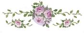 "Large Blush Rose, 18.2""X6.4"" - Prima Marketing Dresser Ups Transfer"