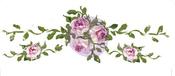 "Small Blush Roses, 12.9""X4.5"" - Prima Marketing Dresser Ups Transfer"