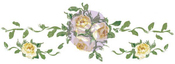 "Small Yellow Roses, 13""X4.5"" - Prima Marketing Dresser Ups Transfer"