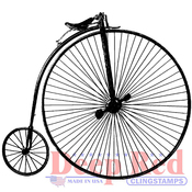 "Penny Farthing - Deep Red Cling Stamp 3""X4"""