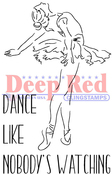 "Dance - Deep Red Cling Stamp 3""X5"""