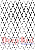 """Diamond Wire - Deep Red Cling Stamp 3""""X5"""""""