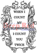 "Counting Blessings - Deep Red Cling Stamp 3""X5"""