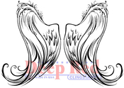 "Angel Wings - Deep Red Cling Stamp 3""X5"""