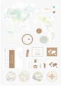 World Globe - Alexandra Renke Travel Sticker
