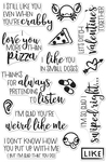 """I Love You More Than Pizza - Hero Arts Clear Stamps 4""""X6"""""""